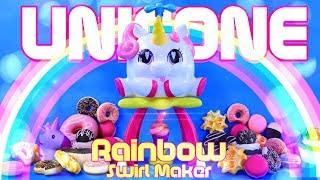 Unbox Daily: UNICONE Rainbow Swirl Maker | CUTE Unicorn that creates Rainbow Swirls!!!