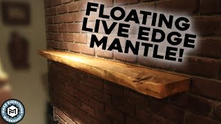 Making A Live Edge Floating Mantle (Woodworking)