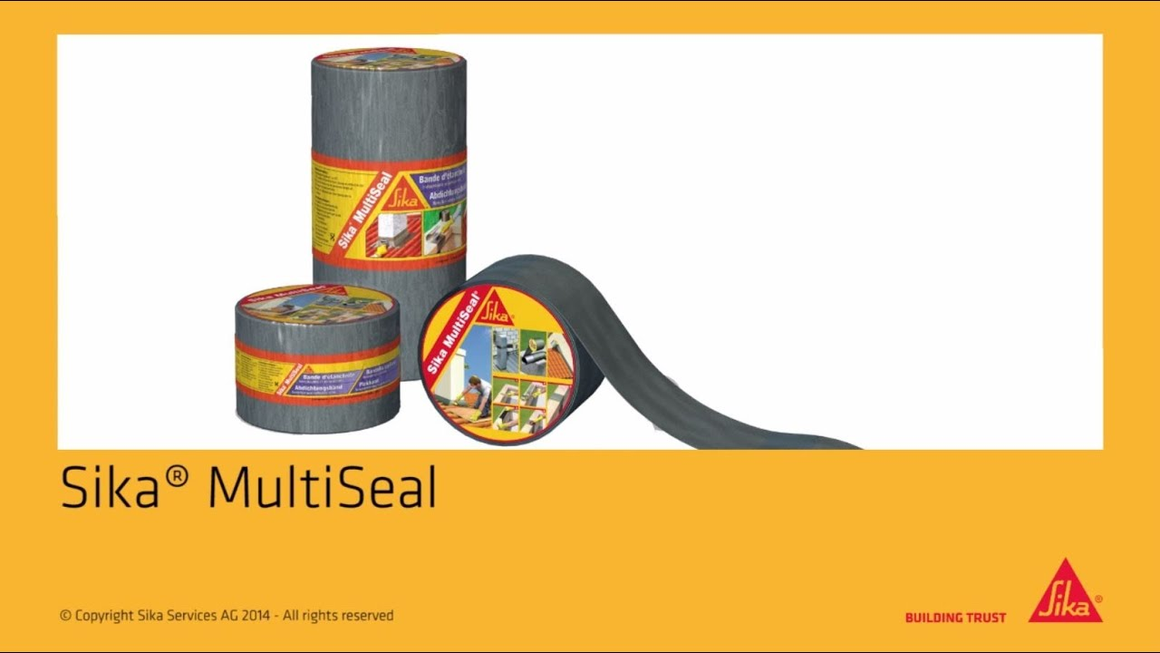 Sika 174 Multiseal Self Adhesive Sealing Tape Youtube