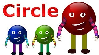Learn Shapes With Circle For Children | 3D Animated Cartoons For Kids | Awesome Rhymes For Kids