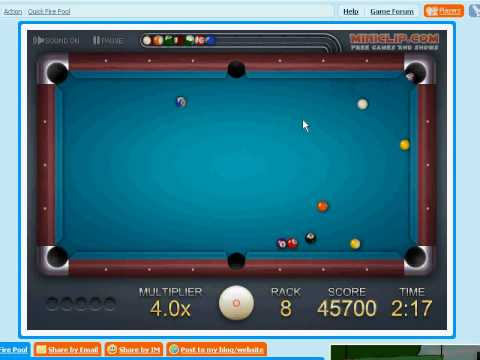 Miniclip Quick Fire Pool - Rack 10 - 50000+ Score. Mar 11, 2009 8:27 PM