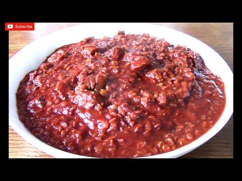 Ethiopian Food: Cooked Lentils With Meat - ምስር በስጋ ወጥ አሰራር