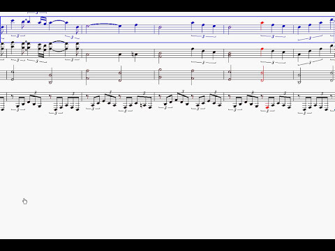 Moon River on Noteworthy Composer 2