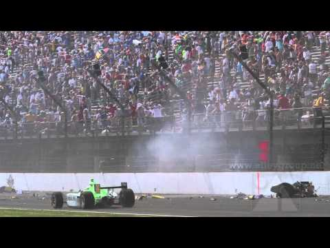 Mike Conway Indy 500 Crash