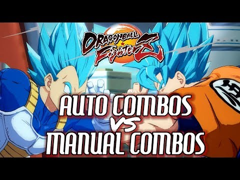 Dragon Ball FighterZ(DBFZ): AUTO COMBOS vs. MANUAL COMBOS! - How To & What's the Difference?