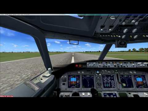 Flight Simulator X terrible landing at Sultan Ismail, Johor, Malaysia