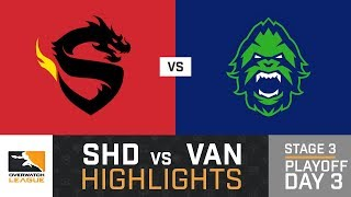 HIGHLIGHTS Shanghai Dragons vs. Vancouver Titans | Stage 3 | Playoffs | Day 3 | Overwatch League