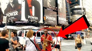 I CAN'T BELIEVE I JUST PLAYED THE POWER THEME SONG AT TIMES SQUARE