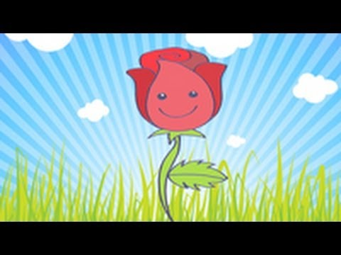 C mo dibujar una rosa youtube - Dibujos pared habitacion infantil ...