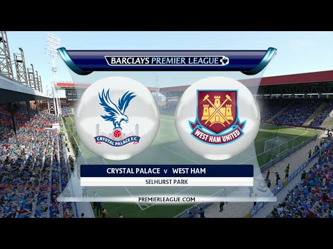"FIFA 16 - Crystal Palace vs. West Ham United ""London Derby"" @ Selhurst Park"