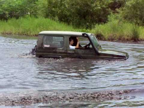 Suzuki Samurai Swimming at