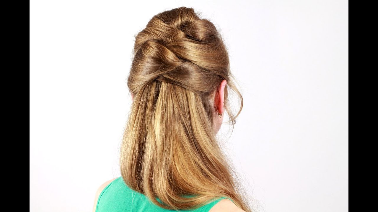 Причёска с карандашом коса