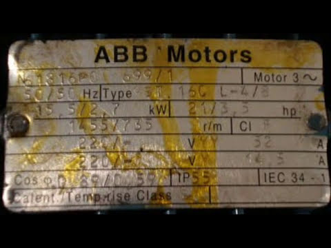 Descripcion de un motor trifasico asíncrono