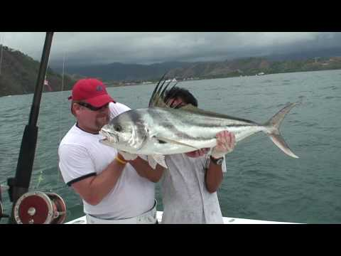 Rooster fishing in Costa Rica (part 1 of 2) - Sean (HD)