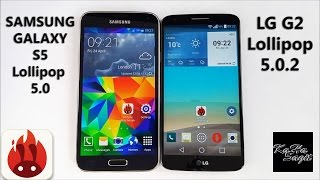 LG G2 D802 Lollipop 5.0.2 vs Samsung Galaxy S5 Lollipop 5.0 Antutu Benchmark test