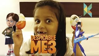 Despicable Me 3 Special Kinderjoy Unboxing on my Hong Kong Trip