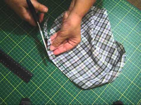 Как сделать полоски из ткани для 538