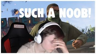 NOOB Attempts To Play GTA 5 (GTA 5 FUNNY MOMENTS EP 1!)
