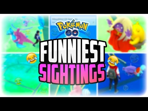 Pokemon Go - The Top 5 FUNNIEST Pokemon Go Sightings! (FUNNY Pokemon Go Screenshots!)
