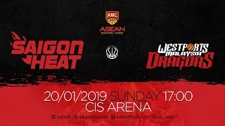 ABL9 || Home - Game 13: Saigon Heat vs Westports Malaysia Dragons 20/01 | Full Game Replay