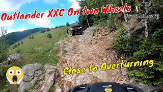 Atv Adventure - Beautiful Mountain Descent / Outlander XXC On two Wheels - Close to Overturning