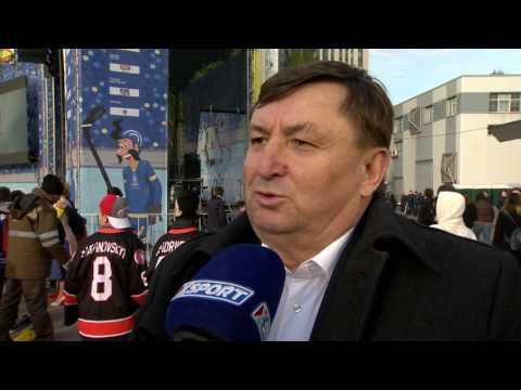 Хоккей. ЧМ-2017 в Киеве. Анатолий Брезвин - о семейной атмосфере на турнире
