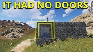 Amazing Starter Base Had No Doors - Rust Solo Survival Gameplay