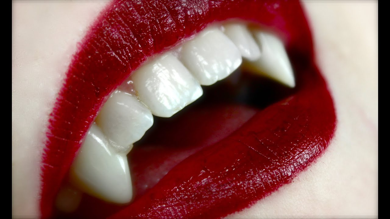 How To Apply Vampire Fangs Youtube