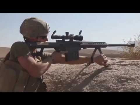 Marines Engage Insurgents. Confirmed .50 Cal Sniper Kill