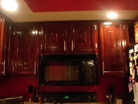 DIY How to: Refinish Refinishing Wood Kitchen Cabinets