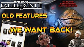 OLD FEATURES & MODES WE NEED in Star Wars Battlefront 2!