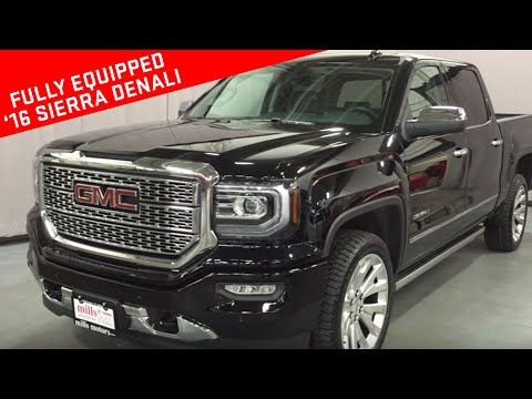 2016 GMC Sierra 1500 Denali Crew Cab 4WD Power Running Boards Oshawa ON Stock # 160417