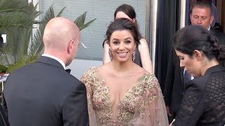 Eva Longoria coming out of the Palais des festival in Cannes