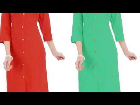 Simple Cotton Kurti Combo for Ladies || Front button Kurti set (2018)