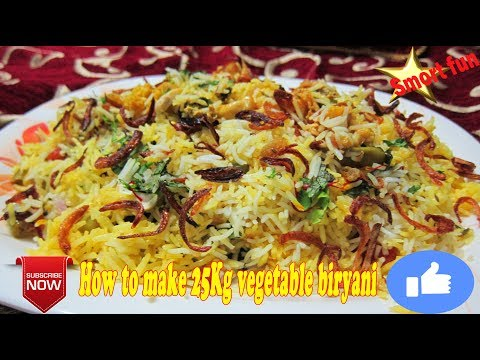 How to make 25Kg vegetable biryani | Veg bum Pulao | Home Made Vegetable Pulav Recipe.