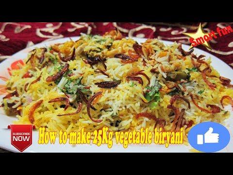 How to make 25Kg vegetable biryani | Veg bum Pulao | Home Made Vegetable Pulav Recipe.