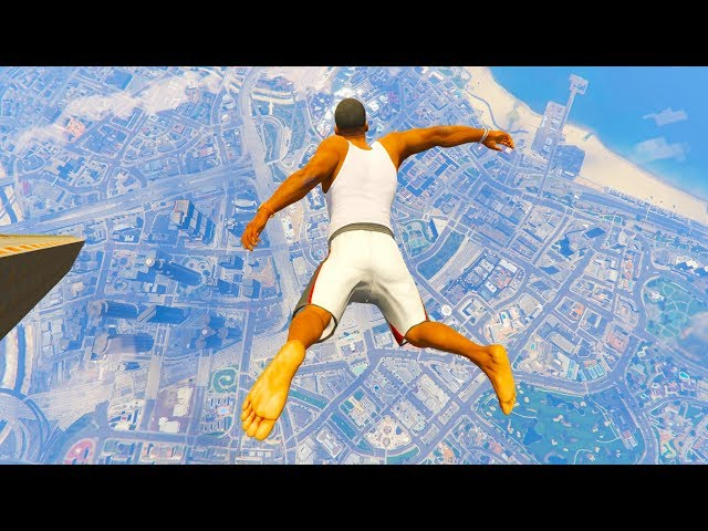 GTA 5 CRAZY Jumps/Falls Compilation #20 (GTA V Fails Funny Moments)