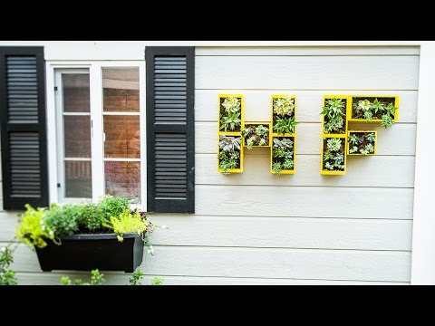 Home & Family - Creating a DIY Wall Monogram Planter