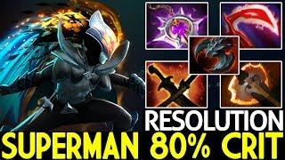 Resolution [Phantom Assassin] Superman 80% Crit Late Game Boss 7.21 Dota 2