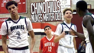 PRIME CHINO HILLS DESTROYS MATER DEI! Lonzo Ball QUADRUPLE DOUBLE?! Worst MD Loss OF ALL TIME!