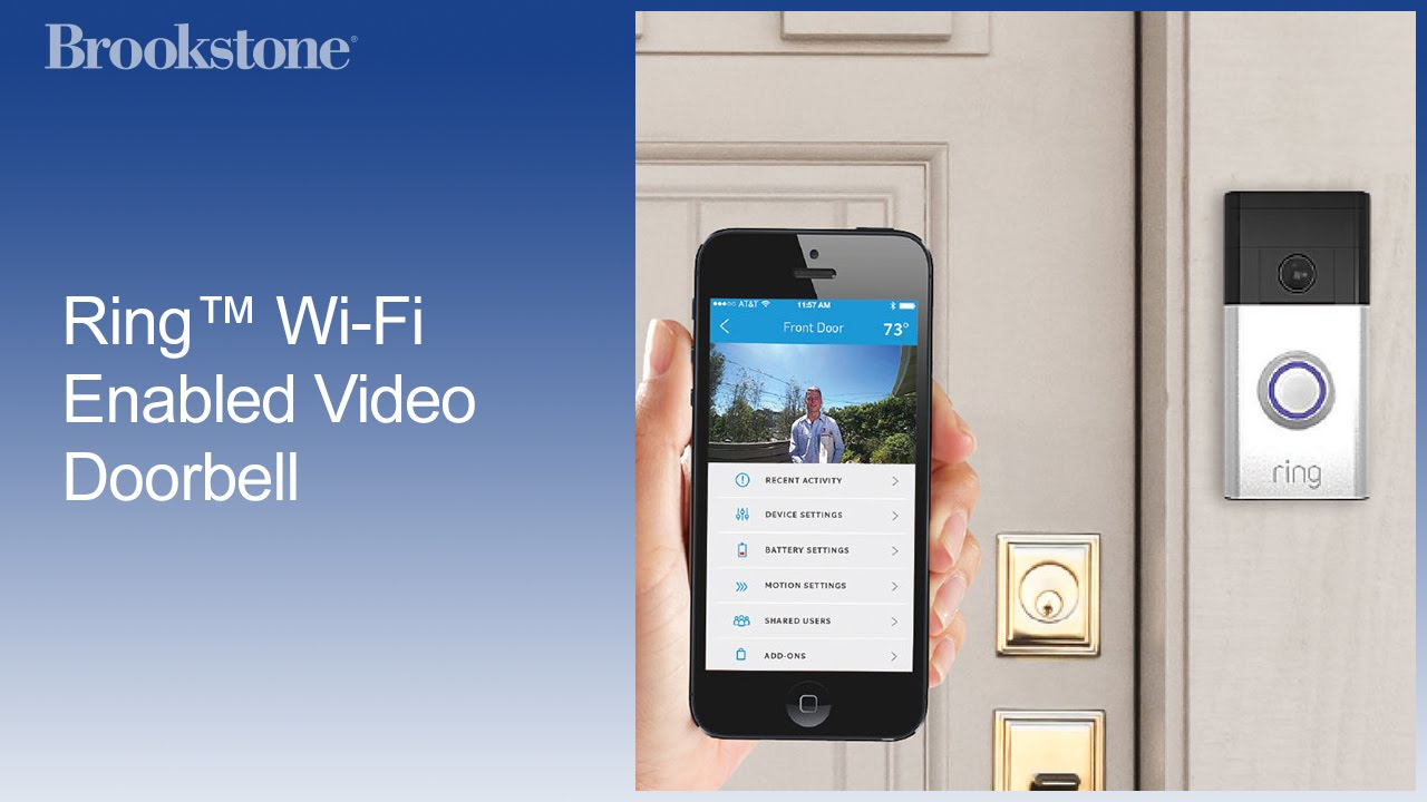 Ring Wi Fi Enabled Video Doorbell Youtube