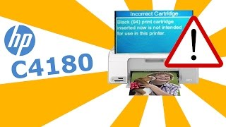 """HP Photosmart C4180 - Erreur : """"Vérifier et retirer votre cartouche"""""""