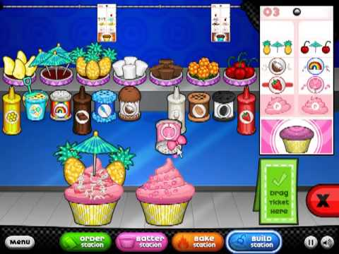 Papa s cupcakeria all standard toppings unlocked youtube