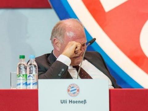 Uli Hoeneß weint bei FC Bayern Jahreshauptversammlung 2013