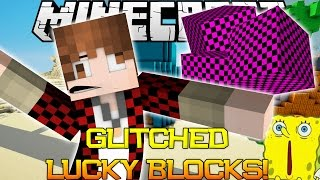 GLITCHED MINECRAFT LUCKY BLOCKS in Bikini Bottom - Spongebob Challenge MINI-GAME! (PVP Challenge)