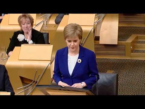 First Minister's Questions - Scottish Parliament: 18th June 2015