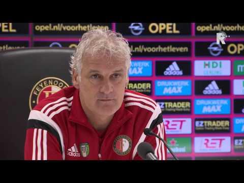 Persconferentie met Feyenoord-trainer Fred Rutten