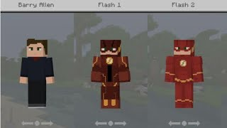 minecraft pocket edition The Flash Skin Pack (v1)