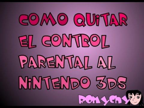 Como Quitar El Control Parental Al Nintendo 3DS
