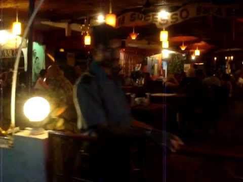 Russian tourists singing very bad karaoke in Goa India